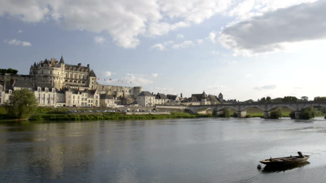 City and Castle of Amboise along the Loire river