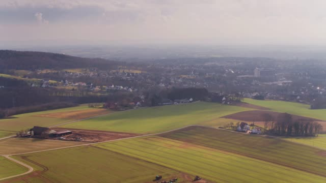 city and countryside from above - herford, germany - north rhine westphalia stock videos & royalty-free footage