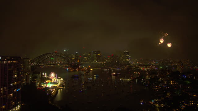city and fireworks - sydney stock videos & royalty-free footage