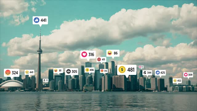 4k city and network connection,social networking services, timelapse - following stock videos & royalty-free footage