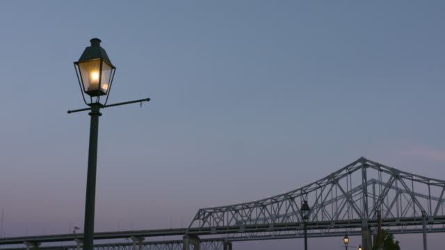 city at dusk new orleans louisiana usa on tuesday may 9 2017 - cantilever stock videos & royalty-free footage