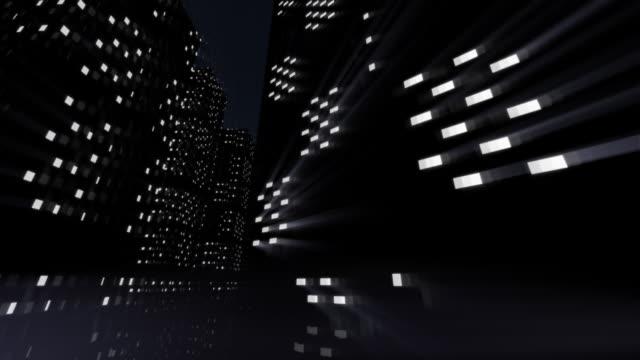 City at night animation