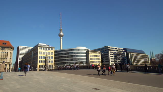 City Berlin, close to the Berliner Dom, time lapse