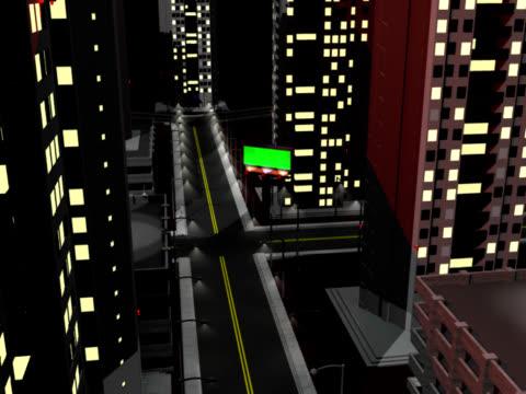tabellone volare in città - meno di 10 secondi video stock e b–roll