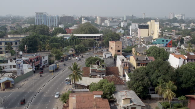 city buildings and traffic / colombo, sri lanka - wide stock videos and b-roll footage