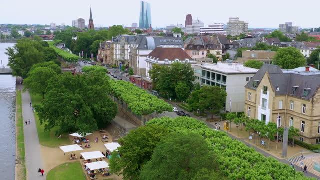 city buildings around elbe river / leipzig, germany - civilian stock videos & royalty-free footage