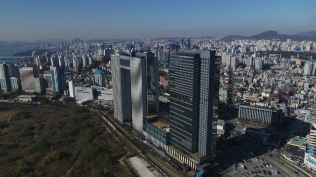 city buildings near yongsan electronics market and yongsan station / yongsan-gu, seoul, south korea - seoul stock videos & royalty-free footage