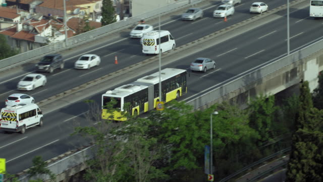 City Bus On Busy Istanbul Motorway