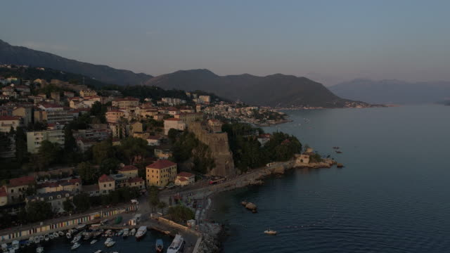city by seaside - montenegro stock videos & royalty-free footage