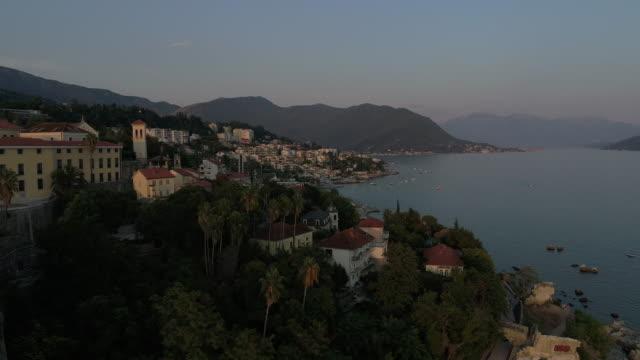 city by sensational seaside - montenegro stock videos & royalty-free footage