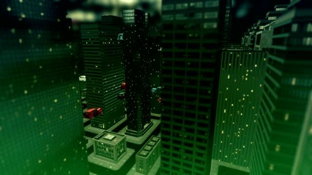 city car fly futuro - antenna parte del corpo animale video stock e b–roll