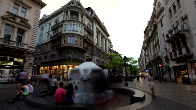 city center of belgrade-day - hungarian culture stock videos & royalty-free footage