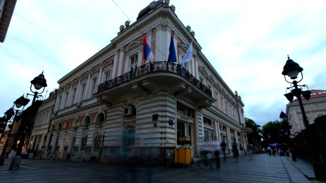 city center of belgrade-establishing shot - hungarian culture stock videos & royalty-free footage
