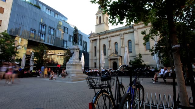 city center of zagreb (wide shot&slide) - zagreb stock videos & royalty-free footage
