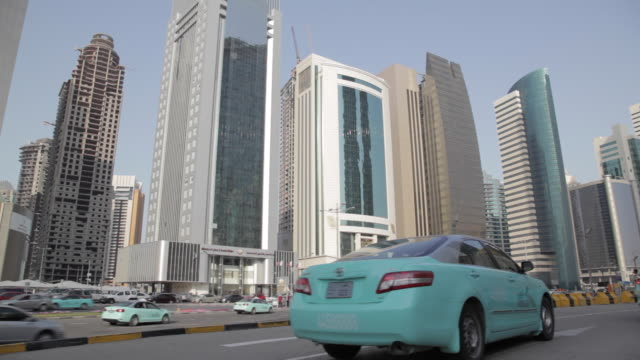 City Centre Financial District and Taxis, Doha, Qatar, Middle East