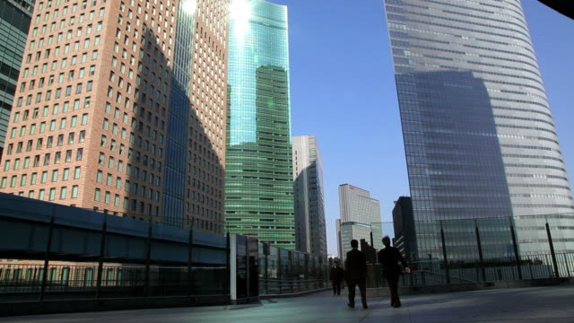 stockvideo's en b-roll-footage met city centre office buildings, shiodome, tokyo, japan, asia - financieel district
