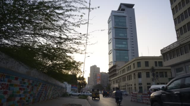 city commercial hub - karachi, pakistan - pakistan stock videos & royalty-free footage