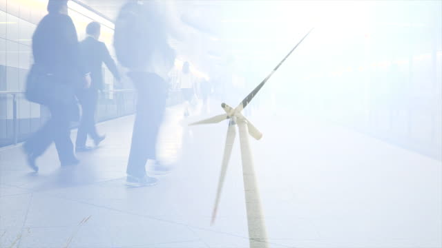 City Commuters and Wind Turbine