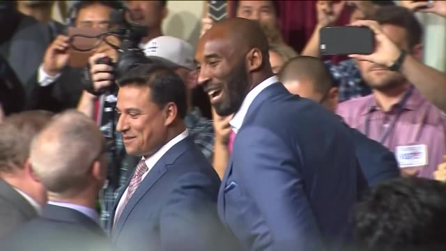 a city council declares 8/24 as 'kobe bryant day' the date commemorates the two jersey numbers he wore as a laker 8 and 24 - kobe bryant stock videos & royalty-free footage