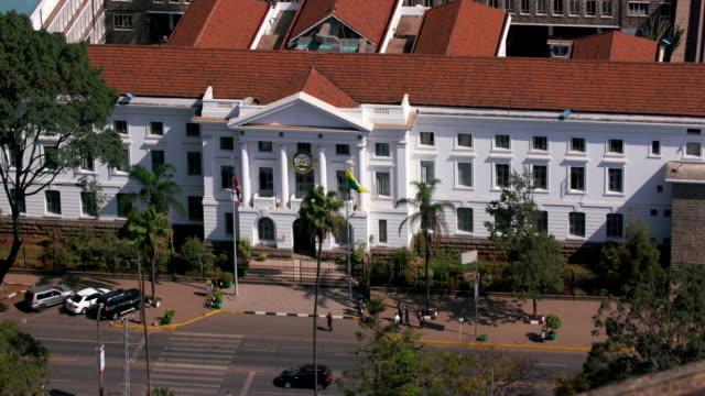 city county assembly building nairobi  kenya  africa - nairobi stock videos and b-roll footage