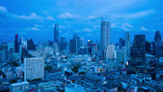 City day to night metropolis Bangkok