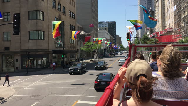 city decorations during the fia formula one canadian grand prix on june 11, 2017; in montreal, quebec, canada. the event is held in the parc... - montréal stock videos & royalty-free footage