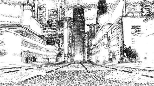 Stadt-Zeichnung