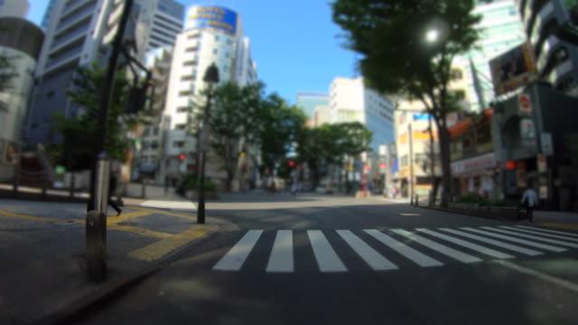 City drive in Shibuya at morning