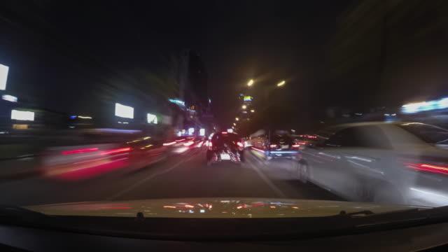 vidéos et rushes de conduite de ville - mèche colorée