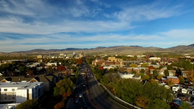 city fly over - idaho stock videos & royalty-free footage