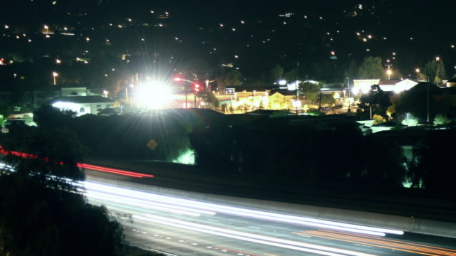City Freeway Traffic Time-lapse
