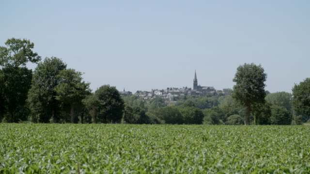 city from the countryside / rennes, france - rennes frankreich stock-videos und b-roll-filmmaterial