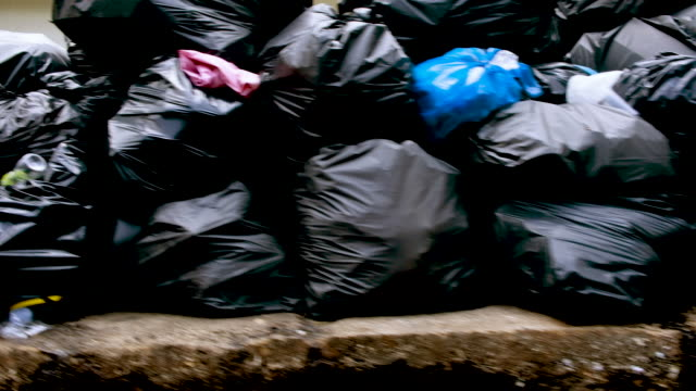 city garbage - bin bag stock videos & royalty-free footage
