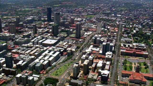 city hall  - aerial view - gauteng,  city of tshwane metropolitan municipality,  city of tshwane,  south africa - pretoria stock videos & royalty-free footage