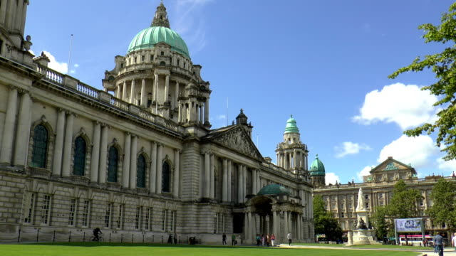 city hall - belfast, northern ireland - belfast stock videos & royalty-free footage