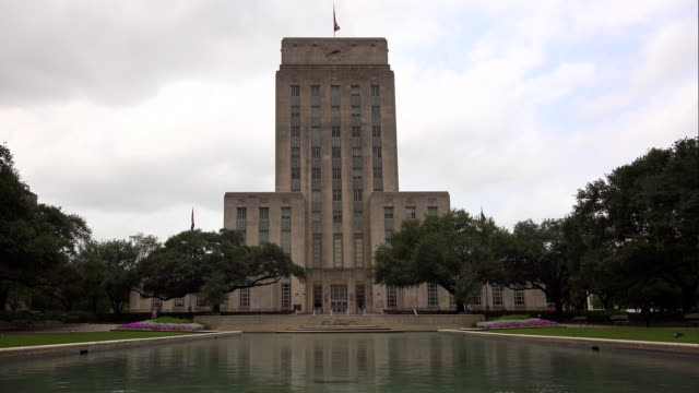 city hall building in houston, texas - town hall stock videos & royalty-free footage