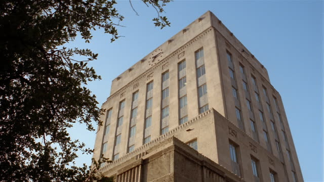 stockvideo's en b-roll-footage met la city hall  houston  texas  usa - town hall