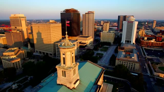 city hall in downtown nashville - tennessee stock videos & royalty-free footage