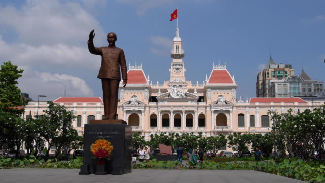 city hall in ho chi minh city, vietnam - french culture stock videos & royalty-free footage