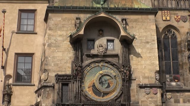 city hall in prague old town - prague town hall stock videos & royalty-free footage