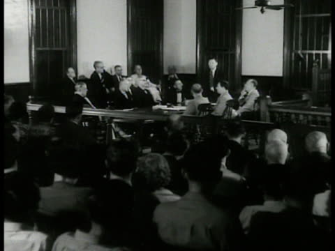 city hall. int city council meeting sot william porter makes motion to turn city over to the us government...find a way to get the city back on it's... - 1938 stock videos & royalty-free footage