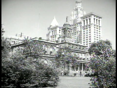 City Hall INT City Hall w/ New York Mayor Fiorello H LaGuardia in meeting at table w/ others