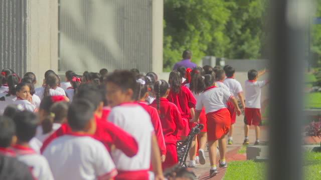 vídeos de stock e filmes b-roll de city hall kids - méxico