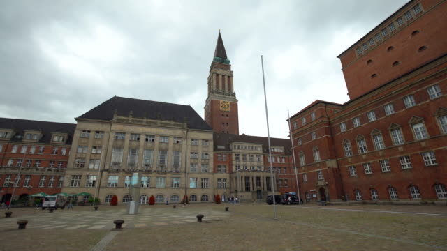 city hall kiel in schleswig-holstein - rathaus stock videos & royalty-free footage