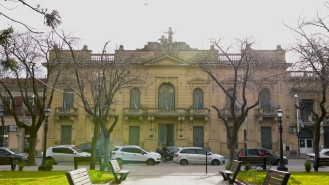 city hall of mercedes city in buenos aires, argentina - buenos aires province stock videos & royalty-free footage
