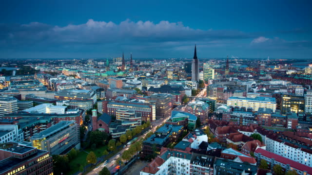 stockvideo's en b-roll-footage met time lapse: city hamburg - duitsland