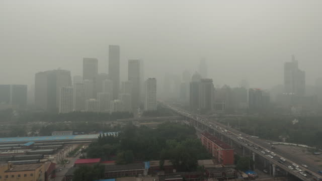t/l ws ha pan city in air pollution / beijing, china - air pollution stock videos & royalty-free footage