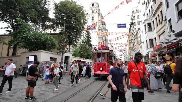 vídeos de stock, filmes e b-roll de city in istanbul turkey. - turquia