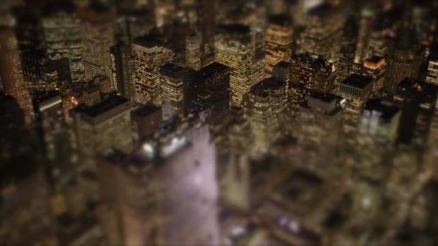city landmark background at night - tilt shift stock videos and b-roll footage