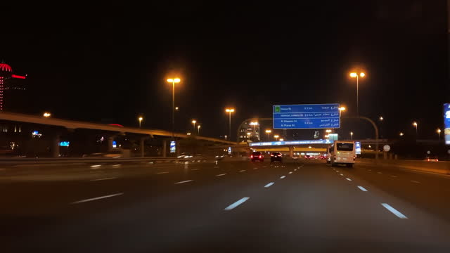 city life and busy roads of dubai - loopable moving image stock videos & royalty-free footage